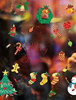 Рождество Наклейки Простые наклейки Декоративные наклейки на стены,Винил Украшение дома Наклейка на стену Окно
