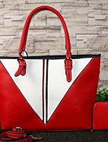 cheap -Women Bags PU Cowhide Tote Zipper for Casual All Season Red Black White Blue