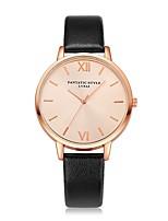 abordables -Mujer Reloj Casual Reloj de Pulsera Chino Cuarzo Reloj Casual PU Banda Lujo Vintage Casual Negro Blanco Azul Rojo Marrón Rosa Color Beige