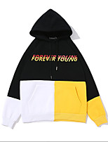 cheap -Men's Casual/Daily Hoodie Color Block Hooded Hoodies Micro-elastic Cotton Long Sleeve Winter Spring/Fall