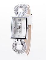 abordables -Mujer Pareja Reloj de Moda Simulado Diamante Reloj Chino Cuarzo Reloj Casual Aleación Banda Flor Destello Colorido Negro Blanco Azul Rojo