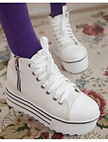 cheap -Women's Shoes Canvas Spring Fall Comfort Sneakers Creepers for Casual Black White