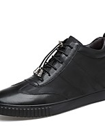 cheap -Men's Shoes Real Leather Cowhide Nappa Leather Winter Fluff Lining Comfort Sneakers for Casual Office & Career Black White