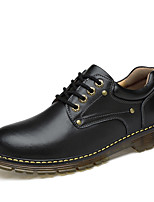 cheap -Men's Shoes Real Leather Leatherette Spring Fall Comfort Oxfords for Casual Brown Black