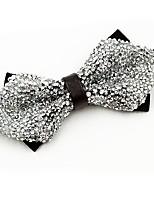 cheap -Men's Cotton Bow Tie,Vintage Party Crystal/Rhinestone All Seasons White