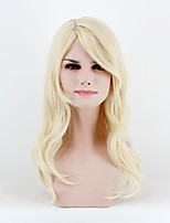 cheap -Women Synthetic Wig Medium Length Natural Wave Light Blonde Natural Wigs Costume Wig