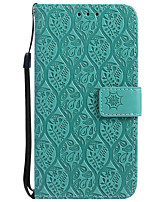 cheap -Case For Samsung Galaxy J7 (2017) J5 (2017) Card Holder Wallet with Stand Flip Pattern Full Body Solid Color Lace Printing Hard PU Leather