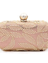 cheap -Women Bags Polyester Evening Bag Pearl Detailing for Wedding Event/Party All Season Champagne