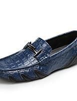 preiswerte -Herren Schuhe PU Herbst Komfort Loafers & Slip-Ons für Normal Weiß Schwarz Hellblau