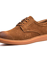 cheap -Men's Shoes Nappa Leather Winter Fall Comfort Oxfords for Casual Outdoor Brown Gray Black