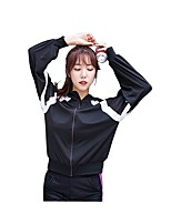 cheap -Women's Running T-Shirt Long Sleeves Fitness Top for Running/Jogging Exercise & Fitness Nylon Spandex Loose Red Black White L M S