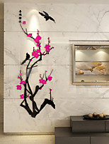 Romance Wall Stickers 3D Wall Stickers Decorative Wall Stickers,Wooden Home Decoration Wall Decal Wall