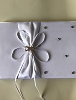 cheap -Satin Romance FantacyWithRhinestone Bowknot 1 Package Box Guest Book