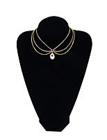 Недорогие -Жен. Свисающие Мода Ожерелья-бархатки , Сплав Ожерелья-бархатки , Повседневные