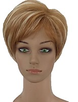 cheap -Women Synthetic Wig Short Straight Blonde Side Part Pixie Cut Natural Wigs Costume Wig