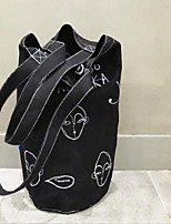 Women Bags Canvas Shoulder Bag Pockets for Casual All Season Black