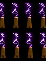 cheap -8pcs BRELONG 15 LED Wine Bottle Copper Copper For Christmas Wedding Party Decorations