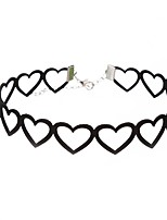 cheap -Women's Heart Simple Fashion Choker Necklace , Cloth Alloy Choker Necklace , Daily