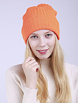 cheap -Women's Acrylic Roman Knit Floppy HatVintage Cute Casual Striped Winter Braided Fuchsia Yellow Gray Blushing Pink Orange