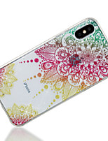 baratos -Capinha Para Apple iPhone X iPhone 8 IMD Estampada Capa traseira Mandala Glitter Brilhante Macia TPU para iPhone X iPhone 8 Plus iPhone 8