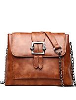 cheap -Women Bags PU Shoulder Bag Pockets for Shopping Casual All Season Spring Dark Brown Dark Green Blushing Pink Black