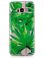 baratos -Capinha Para Samsung Galaxy S8 Plus S8 Estampada Capa Traseira Flor Macia TPU para S8 Plus S8