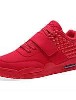 Недорогие -Для мужчин обувь Нубук Весна Осень Удобная обувь Кеды для Повседневные Белый Черный Красный Синий