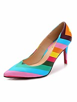 cheap -Women's Shoes Canvas Spring Fall Comfort Heels Stiletto Heel for Casual Pink Gray