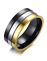 cheap -Men's Band Rings , Simple Casual Fashion Stainless Steel Circle Jewelry Daily Formal