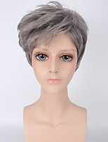 Grey Short Straight Hair Synthetic Cosplay Wig for Men Party Wig