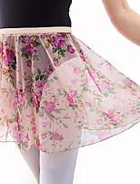 abordables -Ballet Pantalones y Faldas Mujer Actuación Malla de tul Diseño / Estampado Sin mangas Cintura Alta Faldas
