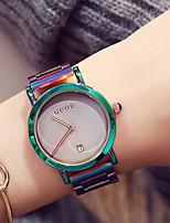 abordables -Mujer Niños Reloj Casual Reloj de Moda Reloj creativo único Japonés Cuarzo Calendario Cronógrafo Resistente al Agua Reloj Casual Acero