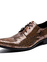 cheap -Men's Shoes Nappa Leather Spring Fall Formal Shoes Comfort Oxfords for Casual Party & Evening Brown