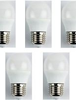 cheap -5pcs 4W E27 LED Globe Bulbs G45 6 leds SMD 3528 LED Lights Cold White 325lm 6400K AC 180-240V