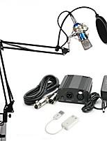 economico -KEBTYVOR BM700 Con filoMicrophoneSet Microfono a condensatore