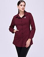 cheap -Women's Daily Vintage Shirt,Solid Shirt Collar Long Sleeve Cotton
