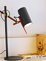 Рассеянное освещение Художественный Настольная лампа Диммируемая Вкл./выкл. От электросети 220 Вольт Белый Черный