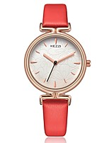 Недорогие -Жен. Повседневные часы Модные часы Японский Кварцевый Повседневные часы PU Группа На каждый день Elegant Черный Белый Синий Красный