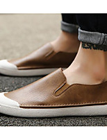 cheap -Men's Shoes Synthetic Microfiber PU Spring Fall Comfort Loafers & Slip-Ons for Casual Brown Silver Black