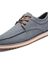cheap -Men's Shoes PU Fabric Spring Fall Comfort Sneakers for Casual Gray Dark Blue Beige