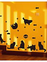 Недорогие -Животные абстракция Наклейки Простые наклейки Декоративные наклейки на стены,Бумага Украшение дома Наклейка на стену Стена