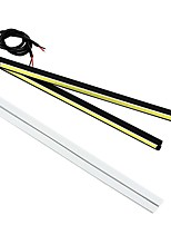 cheap -1 Pair 8 Inches 6400LM E4 DRL 100% Car Models Fitted LED DRL 6000K LED Ultra Bright Lightness White