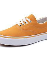 preiswerte -Damen Schuhe Leinwand Frühling Herbst Komfort Sneakers Niedriger Heel für Normal Weiß Schwarz Purpur Gelb Grün