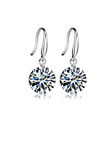 cheap -Women's Hoop Earrings Sweet Lovely Zircon Alloy Drop Jewelry For Party Daily