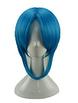cheap -Women Synthetic Wig Medium Length Straight Royal Blue Party Wig Cosplay Wig Costume Wig