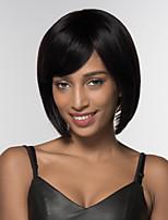 preiswerte -Damen Menschliches Haar Capless Perücken Natürlich Schwarz Medium Auburn Medium Auburn / Bleach Blond Strawberry Blonde / Hellblond Mittel
