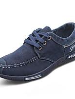preiswerte -Herren Schuhe Leinwand Sommer Komfort Sneakers für Normal Grau Blau