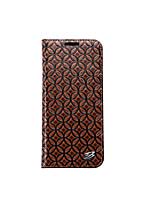 Недорогие -Кейс для Назначение SSamsung Galaxy S8 S7 edge Кошелек Бумажник для карт со стендом Задняя крышка Сплошной цвет Твердый Натуральная кожа