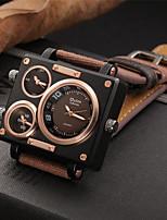 Недорогие -Муж. Повседневные часы Модные часы Нарядные часы Китайский Кварцевый Секундомер С тремя часовыми поясами Повседневные часы Крупный