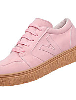 cheap -Women's Shoes PU Spring Fall Comfort Sneakers Flat for Outdoor Pink Brown Black